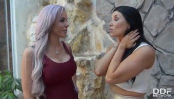 Hot threesome lesbian action with Natalie Lust and Parker Page